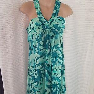 Long floral light weight dress